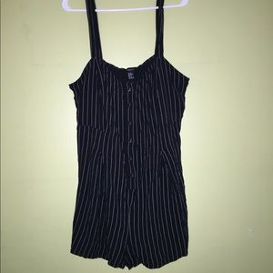 Black & White Striped Romper